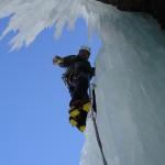 Mr Frost cruising Cascade Bonachiese, WI5, Fionnay